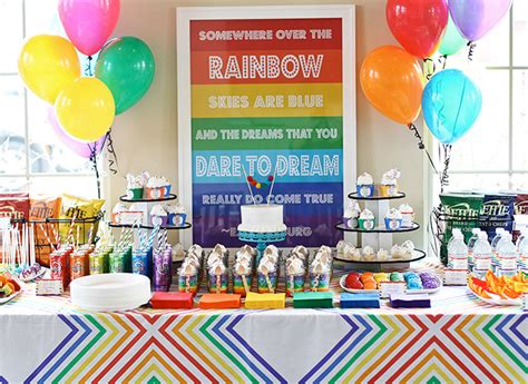 rainbow themed events parties crafty critters