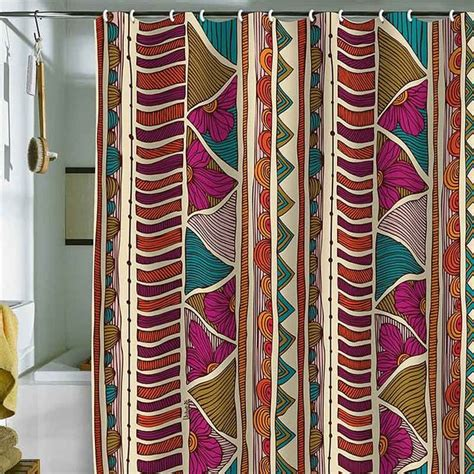 ethnic curtains deny designs valentina ramos ethnic stripes shower curtain