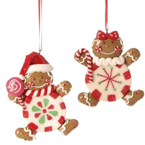 christmas on pinterest gingerbread houses garlands and raz gingerbread candy boy girl christmas ornament