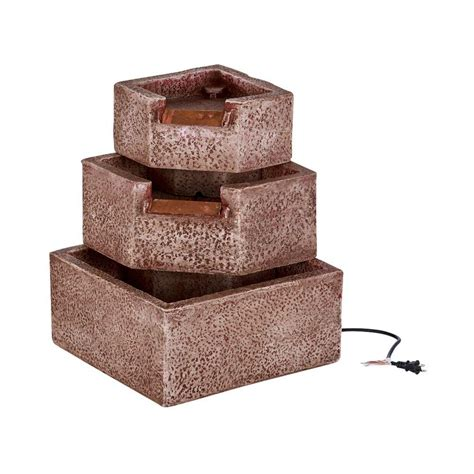 sienna patio and garden lights smart garden cascadia falls electric corner fountain with