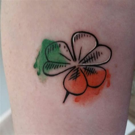 watercolor tattoos dublin my new ireland shamrock ink