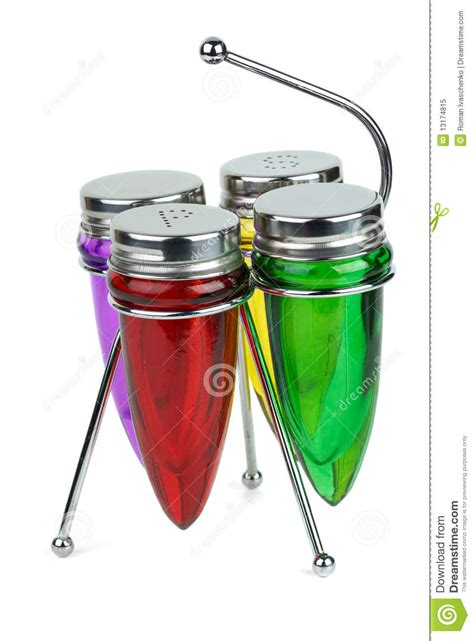 Empty Spice Shakers Set Of Empty Shakers And Spice Containers Royalty Free