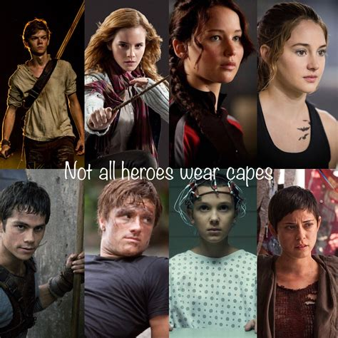 films like maze runner hunger games top row left to right newt the maze runner hermione
