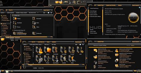 gold themes free download hud gold skinpack for windows 7 8 8 1 windows10 themes