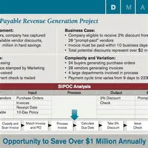 accounts payable lean six sigma project