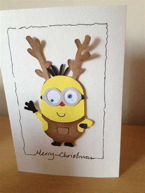 perfect card   boyfriend  loves minions  reindeers reindeer minion card xmas