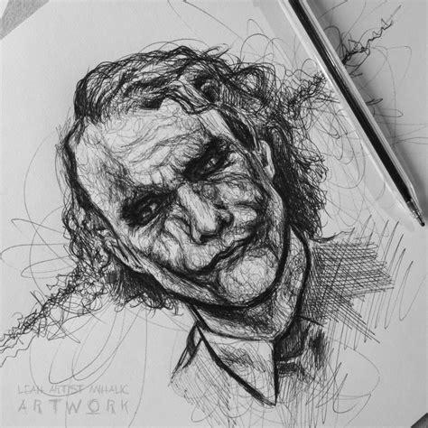 Sketches In Pen by Joker Pen Sketch By Cleicha On Deviantart