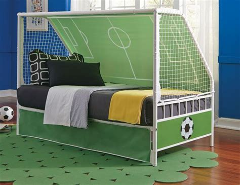 soccer bed score big with this soccer theme child s bed goal keeper