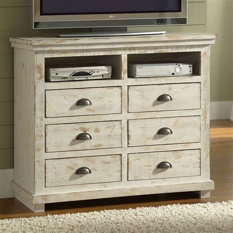 willow media chest distressed white media chests