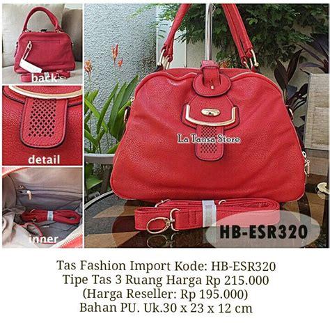 Tas Kantung Banner Depan 1 tas fashion import kode hb esr320 tipe tas 3 ruang harga rp 215 000 harga reseller rp 195 000