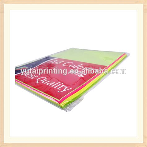 fluorescent paper for printing packing and decoration