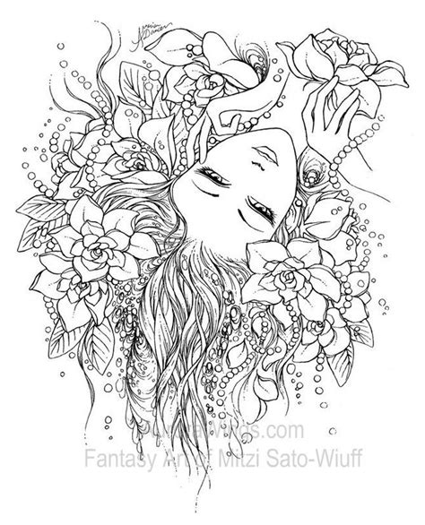 adult fantasy coloring pages get 20 fairy coloring pages