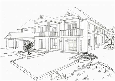 Samples Draw My House bungalow perspective by mydevileve on deviantart