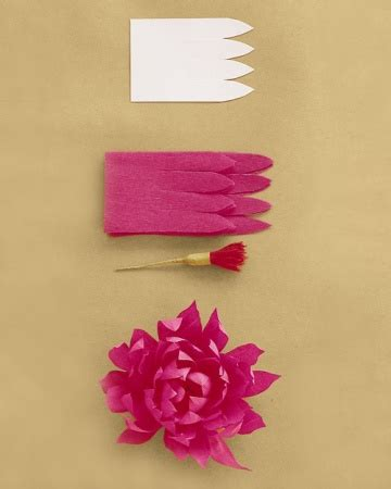 Martha Stewart Crafts Paper Flowers - how to make crepe paper flowers martha stewart