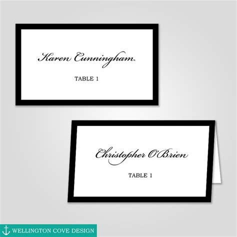 wilton ms word templates silver border place cards template 67 best wellington cove design images on card