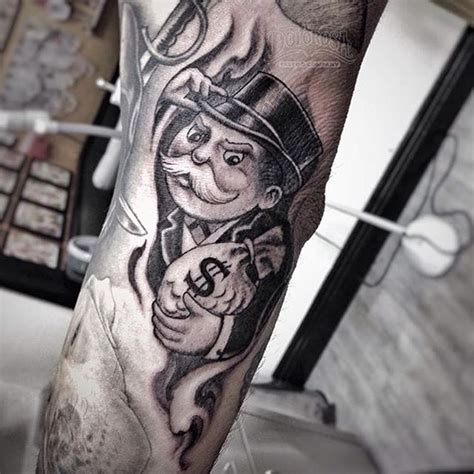 tattoos monopoly man on instagram