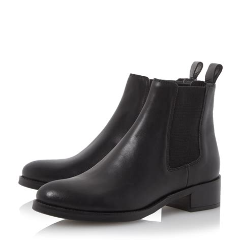 dune chelsea boots dune peppie leather chelsea boots in black lyst