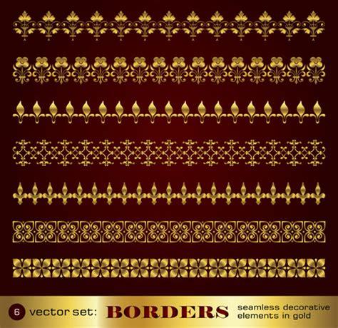 gold decorative elements vector golden border and corner decorative elements vector free