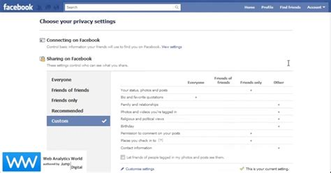 how to change profile picture on book s new privacy settings