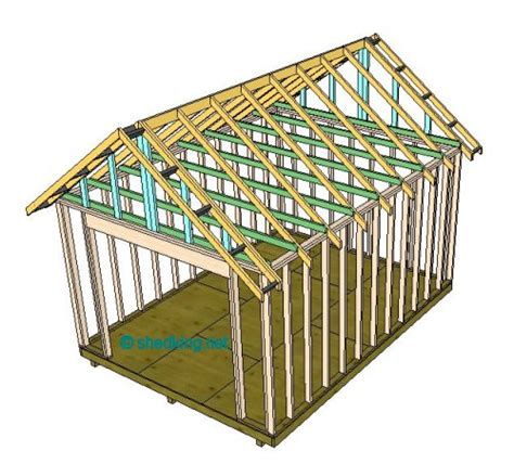 How To Build A Roof Shed Roof Building A Shed Roof Roof Framing