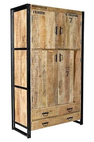 industrial chic kleiderschrank aus massivholz - Industrial Chic Schlafzimmer