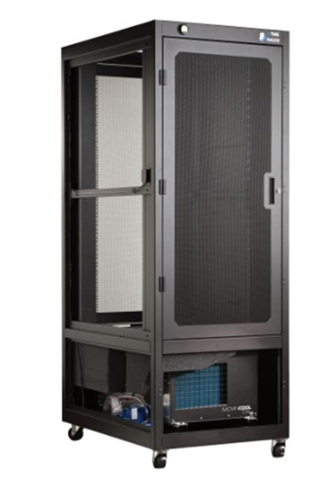 air conditioned rack cabinet movincool powers new uptime rackstm air conditioned