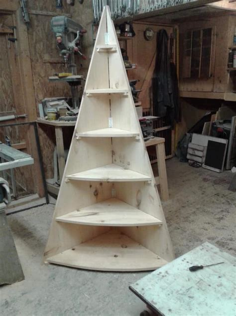 ft wood christmas tree corner shelf smart size buildings