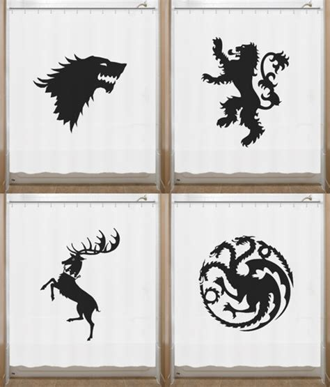 game of thrones shower curtain game of throne shower curtain house sigil stark lannister