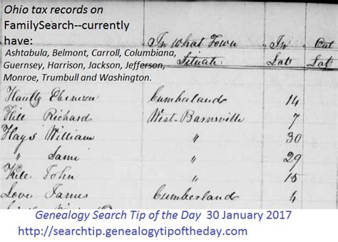 Ohio Records 1850 January 171 2017 171 Genealogy Search Tip