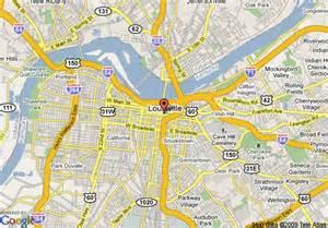 map of hton inn louisville downtown ky louisville