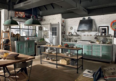 Unusual Kitchen Islands Vintage Style Kitchens By Marchi Group 1956 And Loft