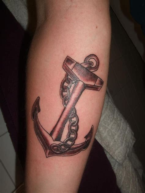 chain tattoo on arm brown anchor with chain on arm http tattooswall
