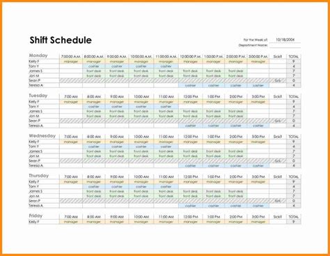 4 monthly employee schedule template model resumed