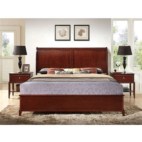 al jefferson bed jefferson queen sleigh bed cappuccino walmart com