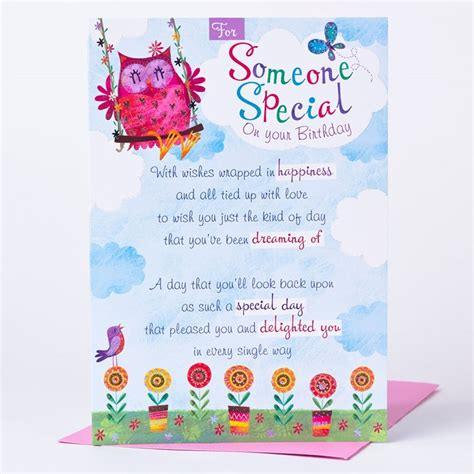 Birthday Card For A Special Person Birthday Card For Someone Special Only 89p