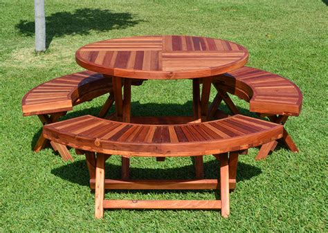 circular picnic benches round folding picnic tables built to last decades