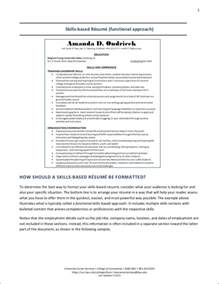 resume template skills based resumes for career changers and tips to your