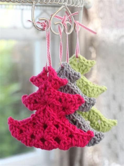 cute crocheted christmas tree ornaments pictures