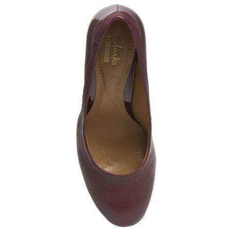 Heels Kombi by High Heels Clarks Basil Auburn 261032784 Burgundy Combi