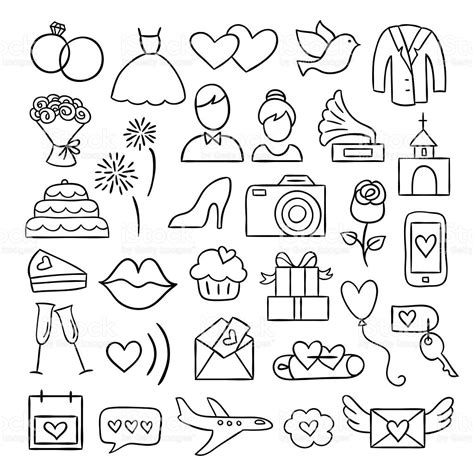 Wedding Doodle by Wedding Icons Vector Wedding And Illustrations