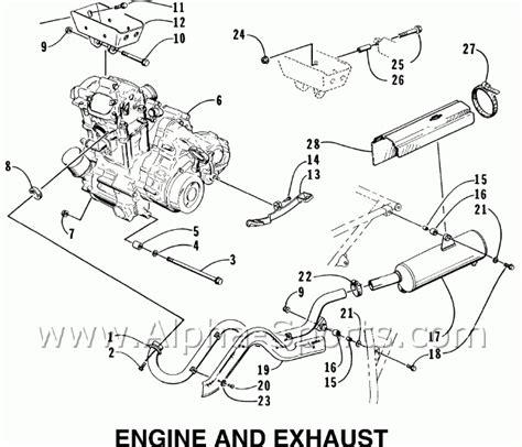 arctic cat tigershark parts diagram engine diagram and