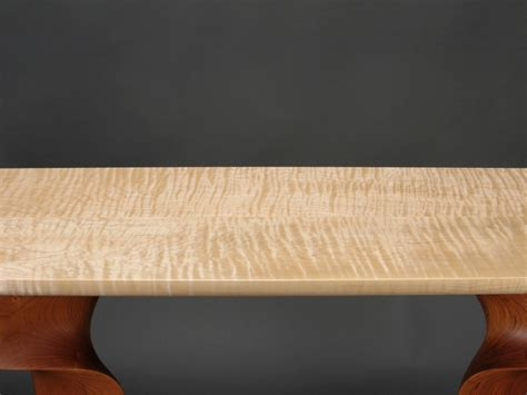 maple table top custom contemporary console table carved cherry with