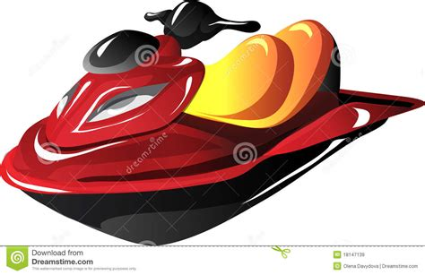 jet boat cartoon images cartoon jet ski royalty free stock images image 18147139