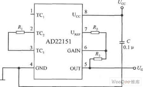 linear integrated circuit diagram linear output integrated magnetic field sensor temperature compensation circuit analog circuit