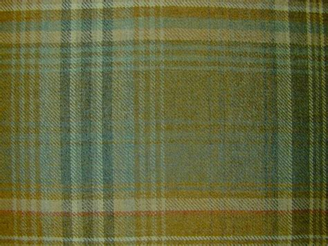 tartan plaid upholstery fabric designer curtain fabric wool tartan plaid check teal fawn