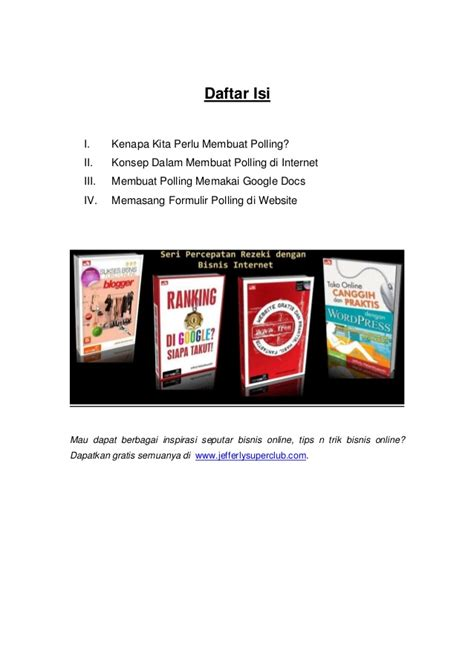 cara membuat ebook html ebook cara mudah membuat polling di internet