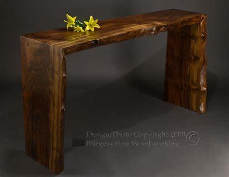custom made sofa tables custom poured walnut sofa table by burgess