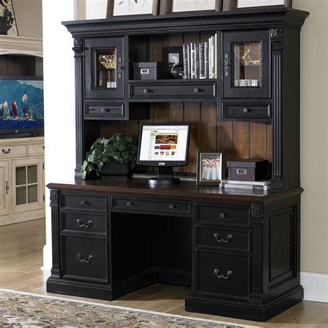black office desk hutch best 25 computer desk with hutch ideas on