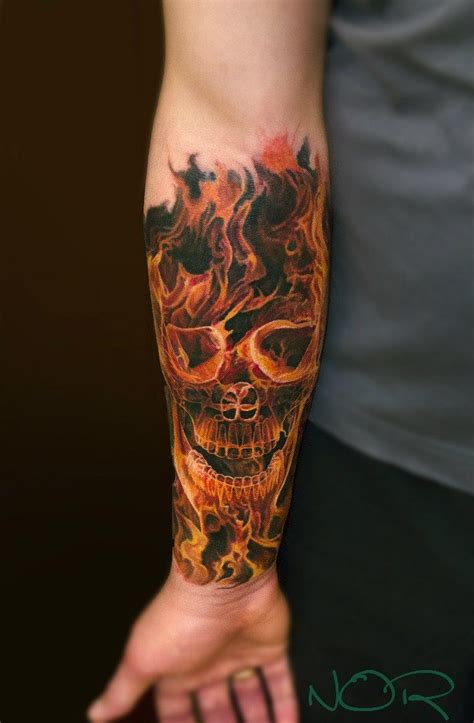 flaming skull tattoos best 25 tattoos ideas on firefighter
