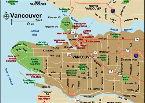vancouver maps navigate easily around vancouver with